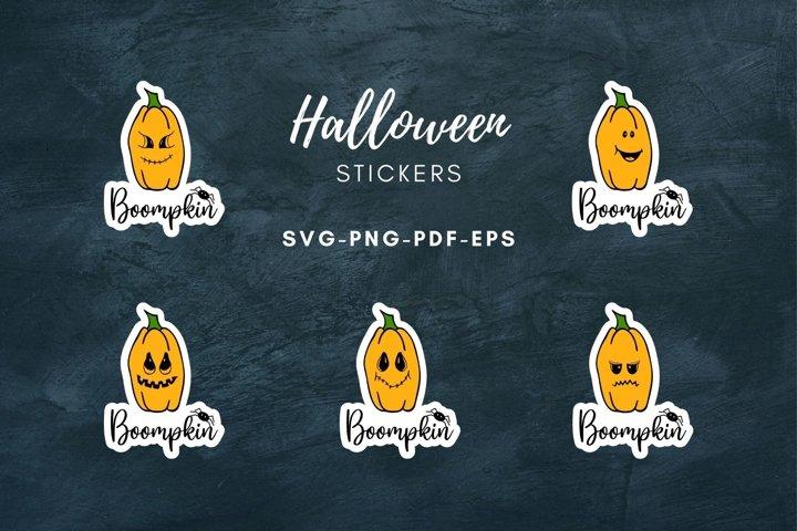 Halloween stickers|Packaging Pumpkin Sticker|Print and Cut