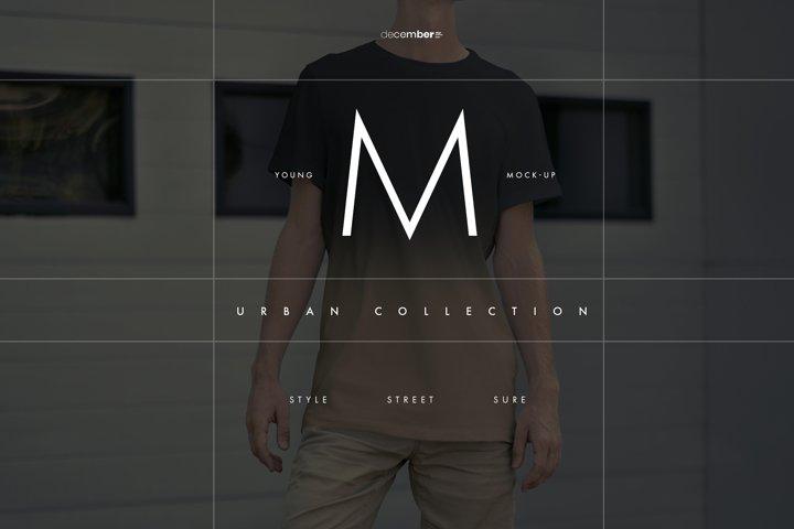 12 Mock-Ups Mens T-Shirt / 6 Urban and 6 Studio Isolated /