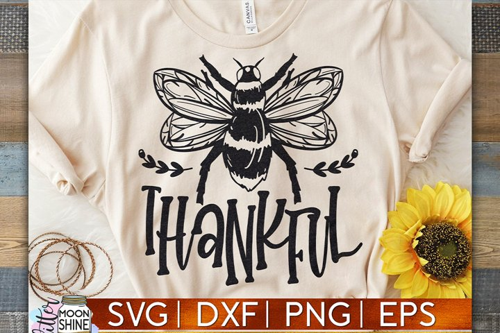 Bee Thankful SVG DXF PNG EPS