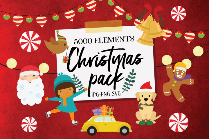Christmas Elements Pack JPG PNG & SVG