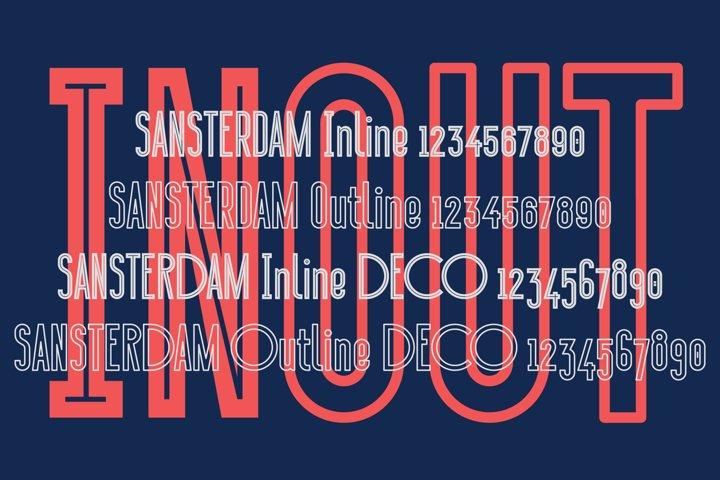 Sansterdam Inline & Outline - Free Font Of The Week Design3