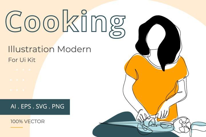 Cooking line illustration