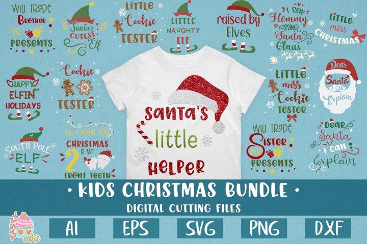 Kids Christmas Bundle - Christmas Cut File