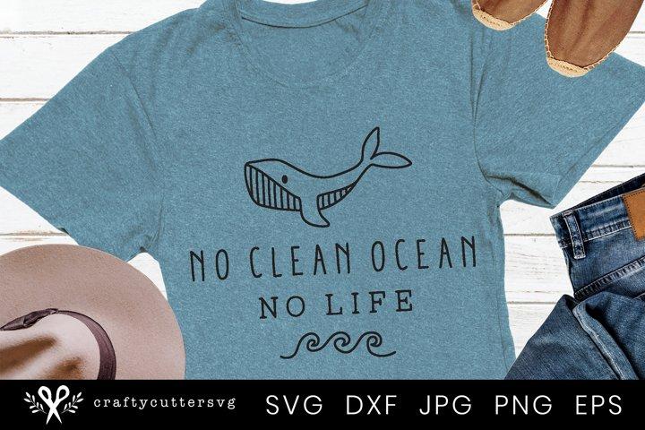 No clean ocean no life Svg | Svg file for Cricut