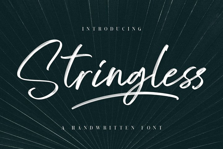 Stringless Handwritten font