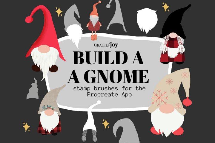 Build a Gnome Procreate Stamp Brush