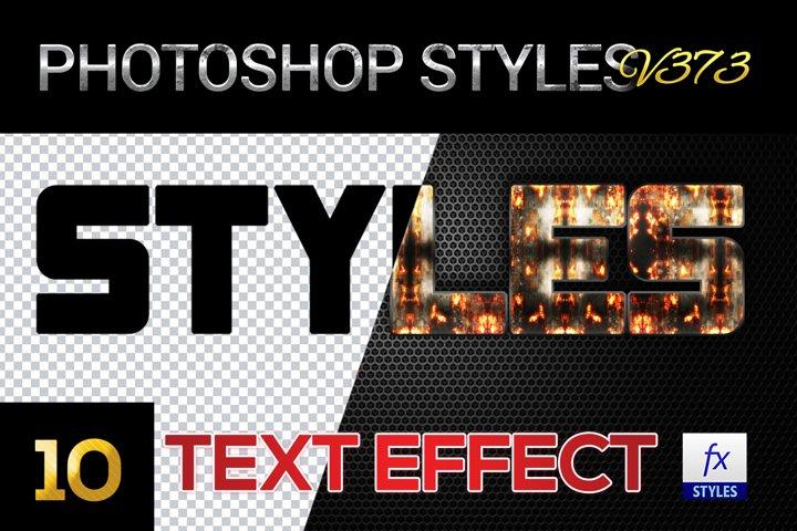 10 creative Unique Photoshop Styles V373