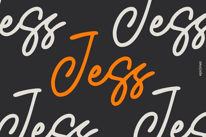Jess   Signature Script Font