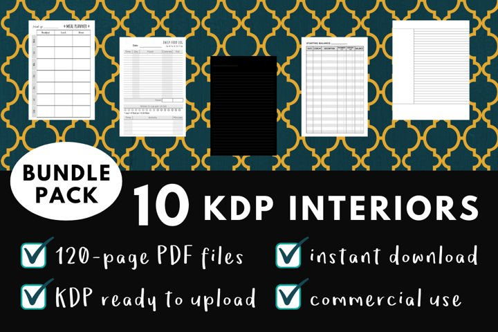 KDP Interior Pack #1 - 10 Templates!