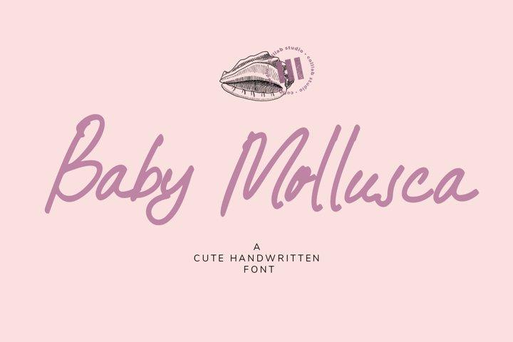 Baby Mollusca - A Cute Handwritten Font