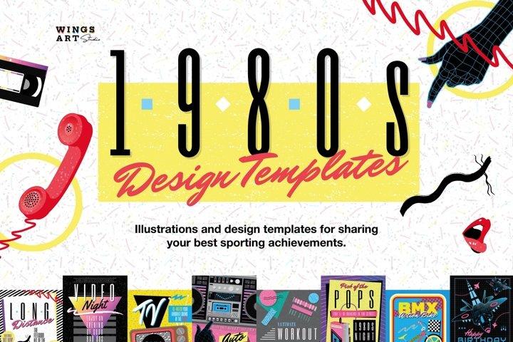 1980s Retro Poster Design Templates