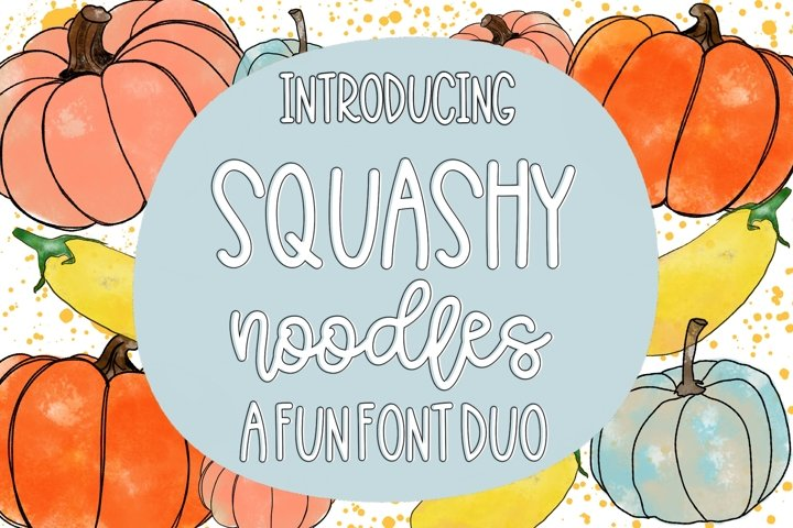 Squashy Noodles - A Fun Font Duo
