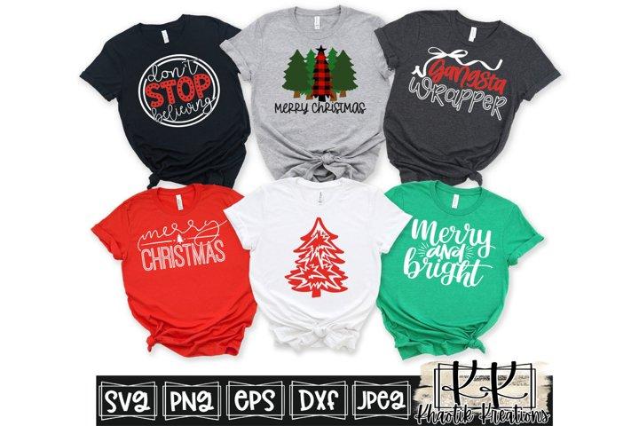 Merry Christmas Svg, Buffalo Plaid Christmas Tree Svg