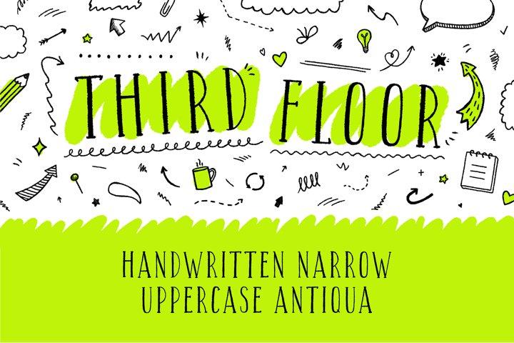 Third Floor Latin & Cyrillic handwritten grungy font