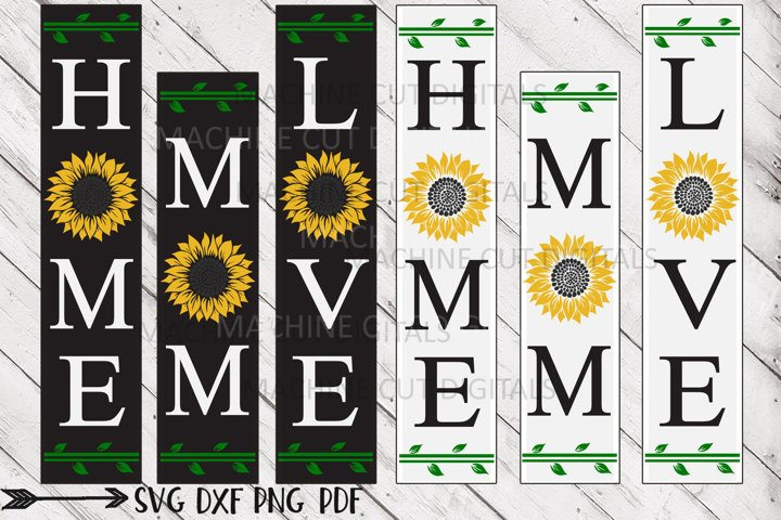 Mom Love Home sunflower Mothers Day signs svg cutting file