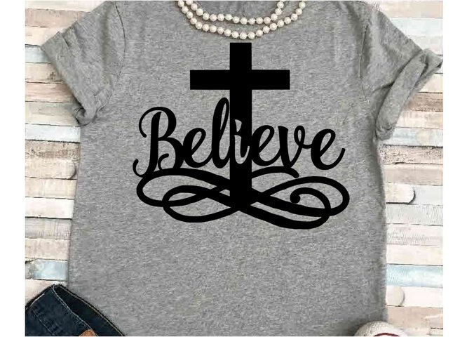 Easter svg SVG DXF JPEG Silhouette Cameo Cricut Jesus svg iron on Believe svg He is risen shirt Cross svg