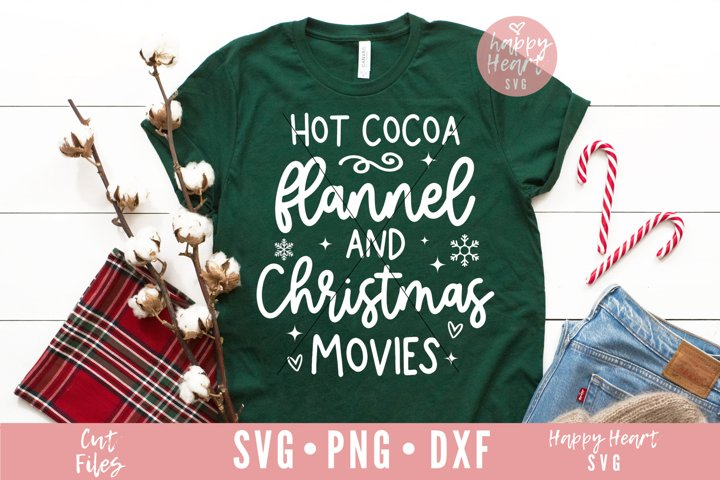Hot Cocoa Flannel And Christmas Movies SVG