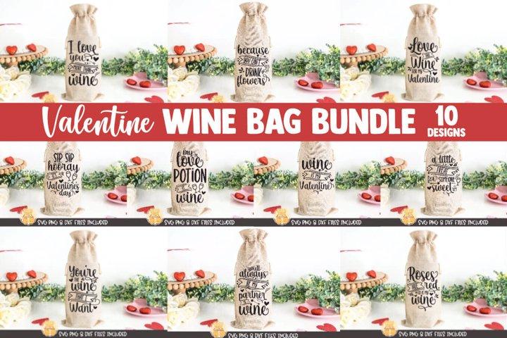 Valentine SVG | Valentine Wine Bag SVG Bundle | 10 Designs