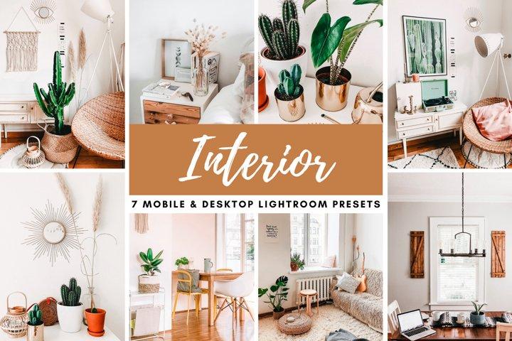 Interior Mobile & Desktop Lightroom Presets Photo Filters