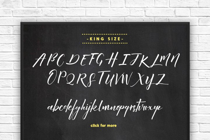 King Size Font - Free Font of The Week Design0