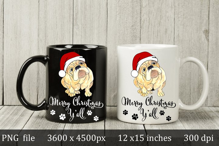 Merry Christmas Puppy design, sublimation and iron on