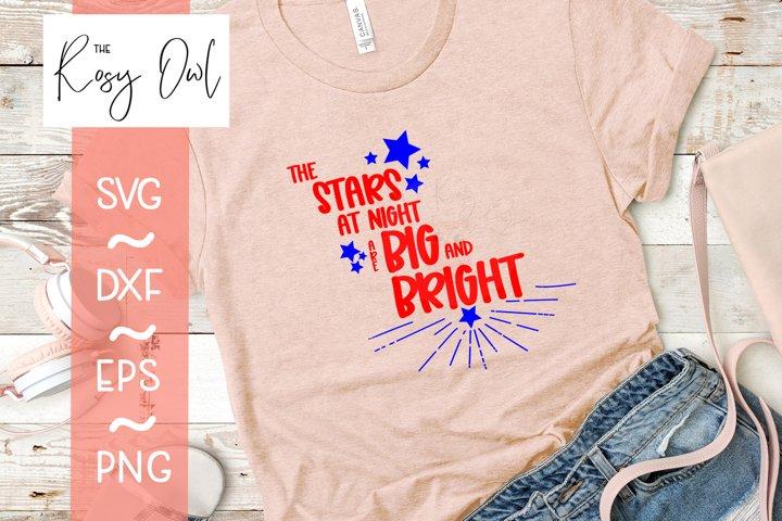 Stars at Night/Big & Bright Digital Cut File