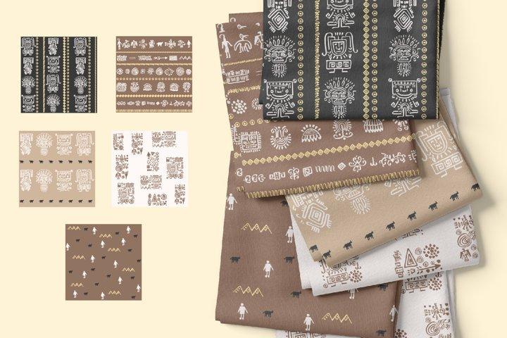 Boho Digital Paper Pack, Bohemian Seamless Patterns