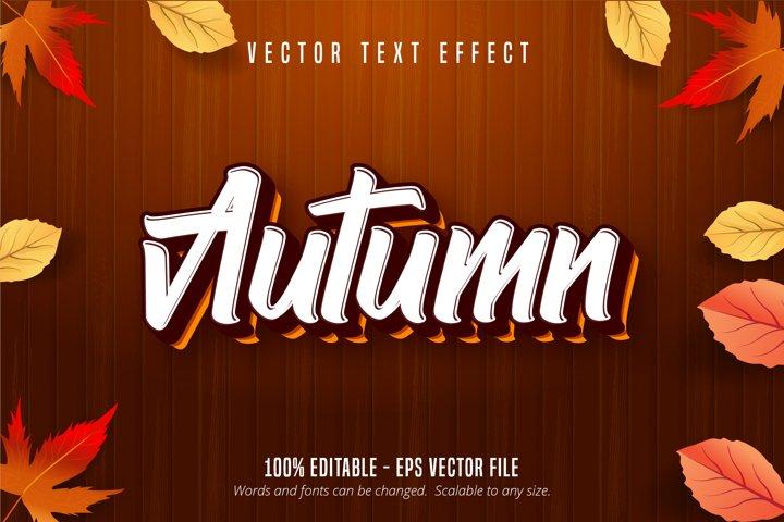 Autumn text, autumn style editable text effect