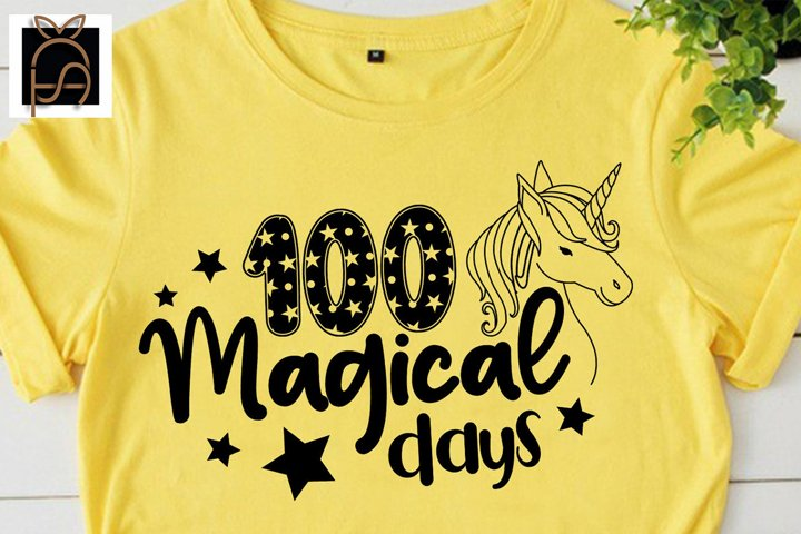 100 Magical Days - 100 Days of School SVG DXF EPS PNG