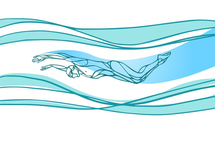 Swimmer silhouette vector Butterfly swimming svg