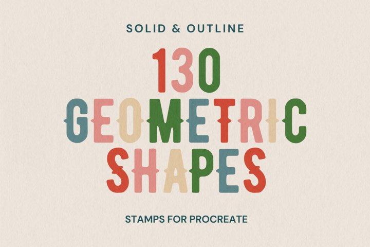 130 Procreate Geometric Shapes   Procreate Stamps Shapes