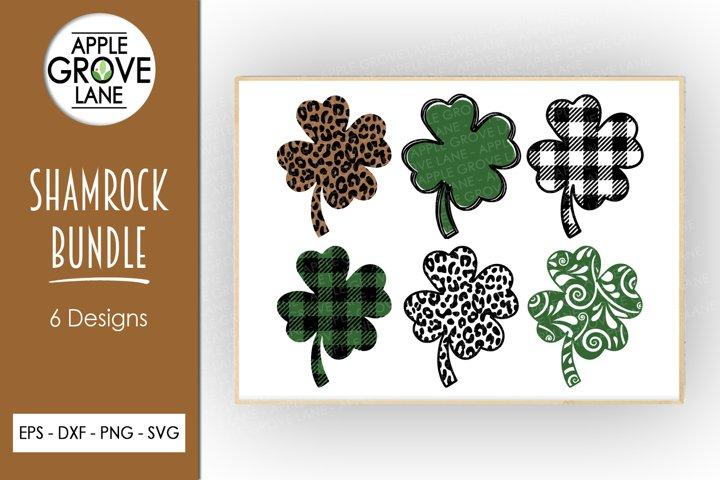 Shamrock SVG Bundle - 6 designs - Svg Eps Dxf Png