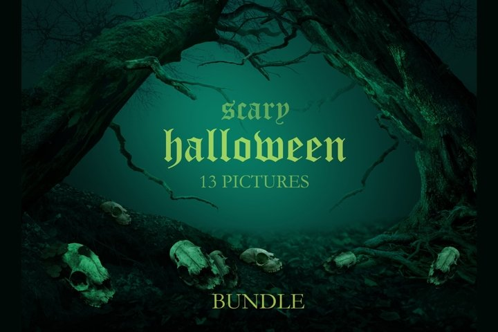 Scary Halloween Bundle 13 pictures JPG Spooky Horror Scenes