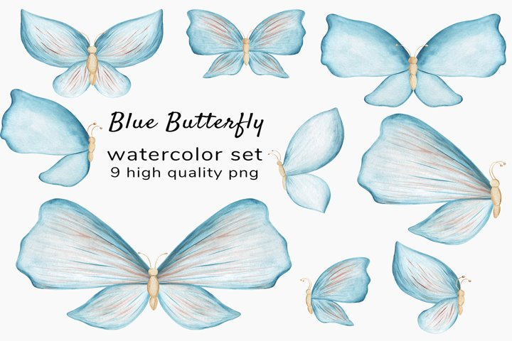 Watercolor butterfly clipart - Wedding Invitation