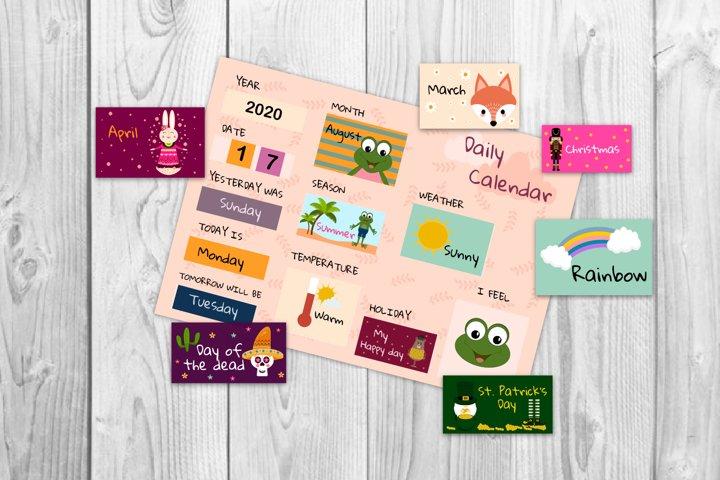 Kids morning board, Kids calendar