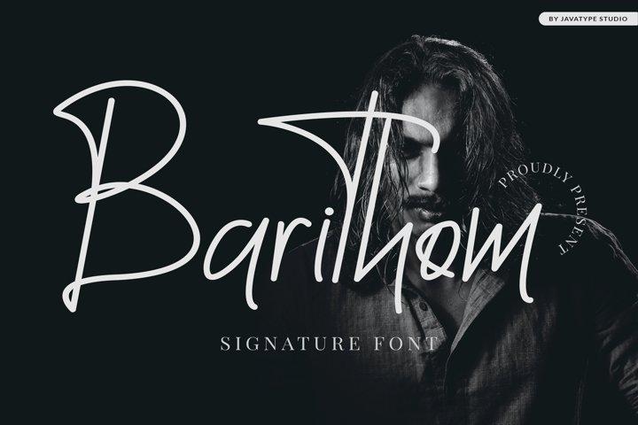 Barithom - Signature Font
