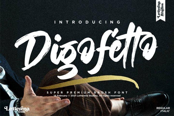 Digofetto - Strong Brush Font