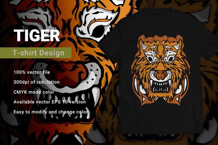 Tiger | T-Shirt Design