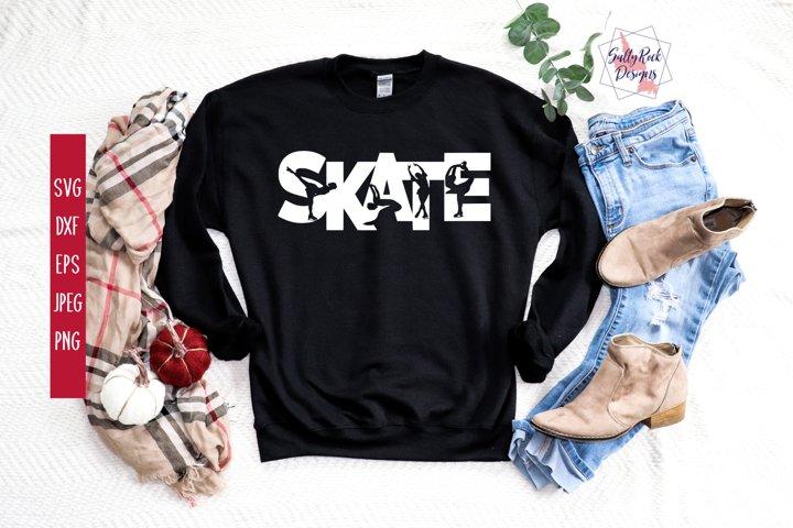 Skate svg, Skater svg, Skating svg, Figure Skater svg,Skate