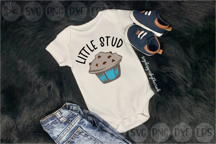 Little Stud Muffin, Cute, Baby, Cut File, PNG, SVG