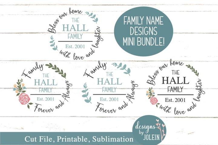 Family Name Design Bundle SVG, png, eps, sublimation, print