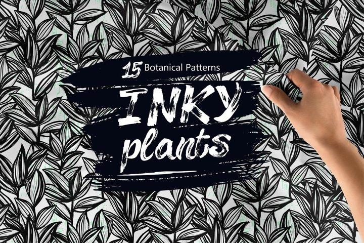 Inky Plants 15 Botanical Patterns