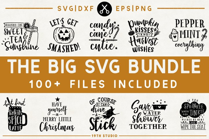 SVG Bundle - The Big SVG Bundle| SVG DXF EPS PNG | BG1