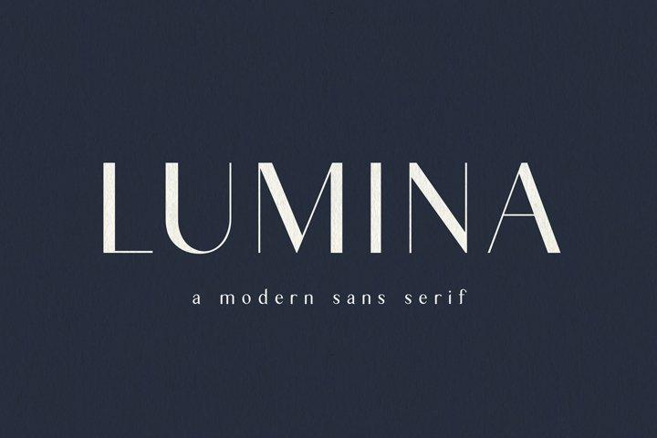 Lumina   Modern Sans Serif