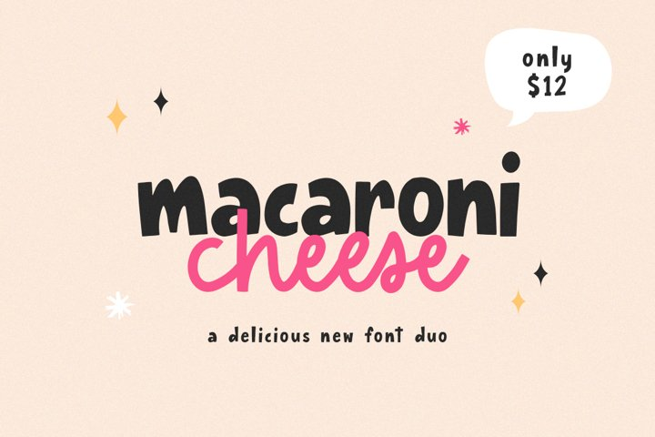 Macaroni Cheese Font Duo