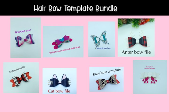 Hair bow template bundle #1 - diy hair bows - svg for bows - Free Design of The Week Design1