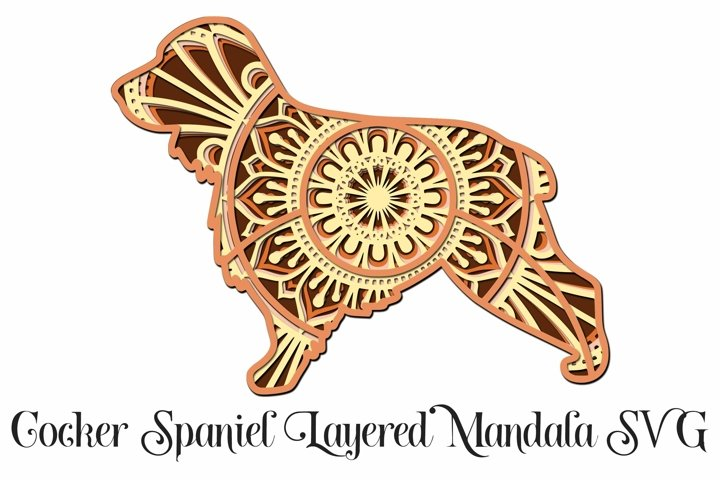Cocker Spaniel Layered Mandala SVG - 5 Layers