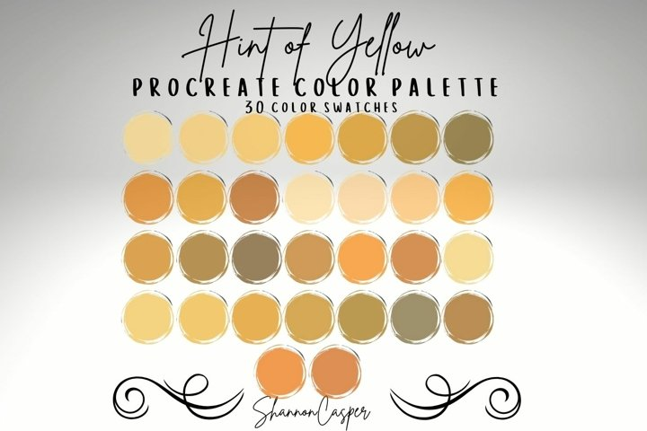 Yellows and Browns Procreate Color Palette