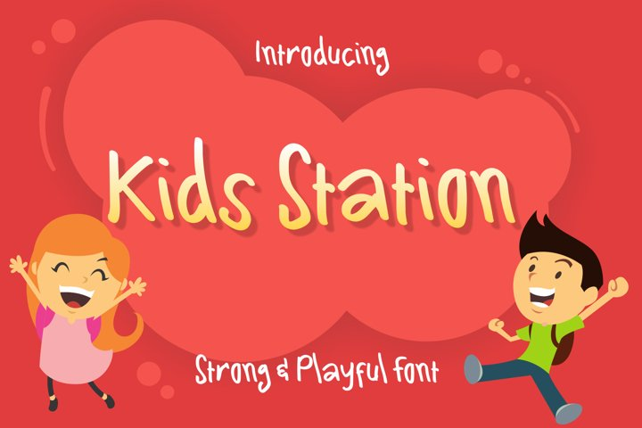 Kids Station Cute Font