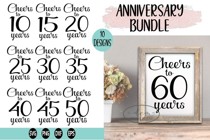 Anniversary Special Celebration Bundle SVG PNG DXF EPS